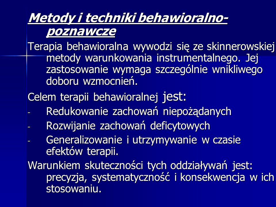 Metody i techniki behawioralno- poznawcze