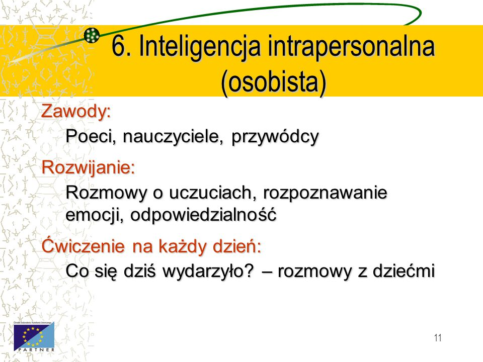 6. Inteligencja intrapersonalna (osobista)