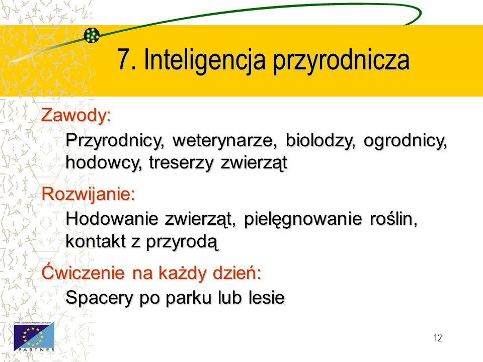 7. Inteligencja przyrodnicza