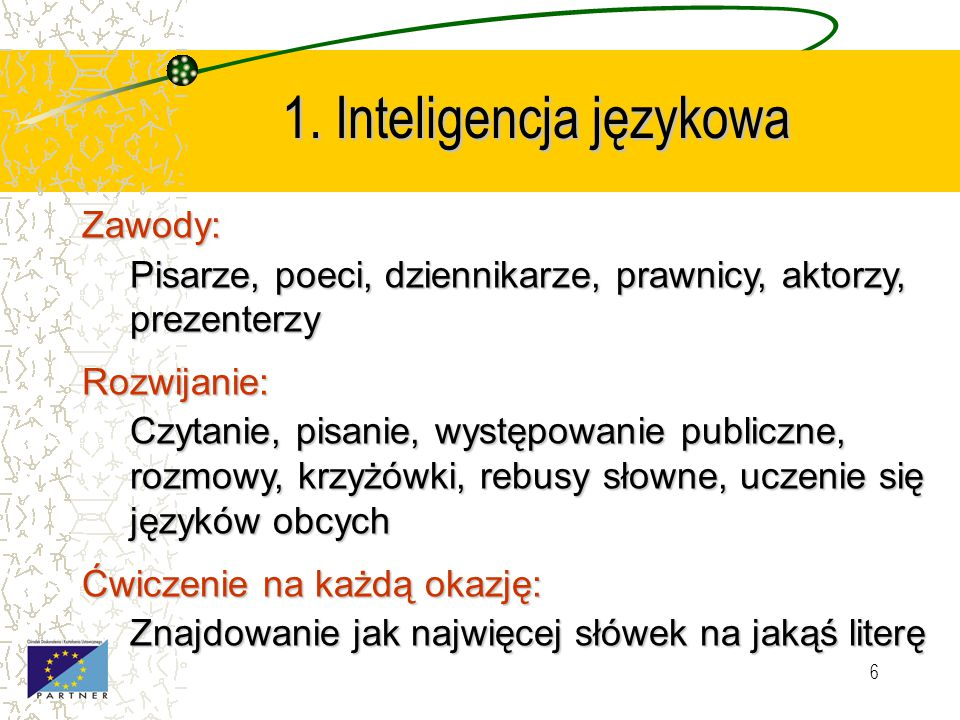 1. Inteligencja językowa