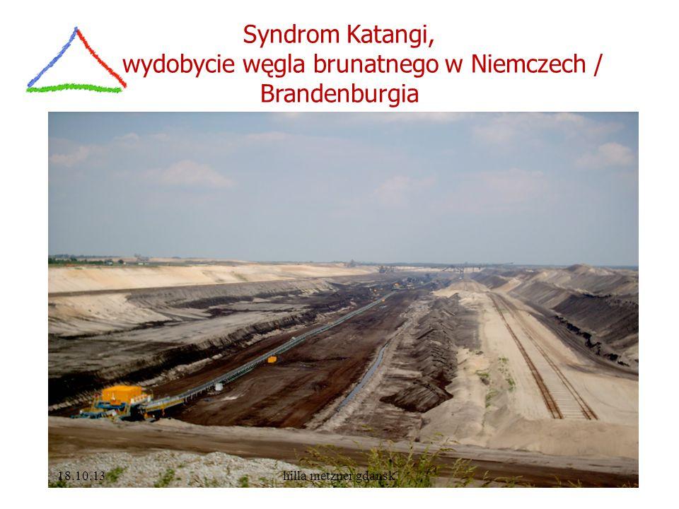 Syndrom Katangi, wydobycie węgla brunatnego w Niemczech / Brandenburgia