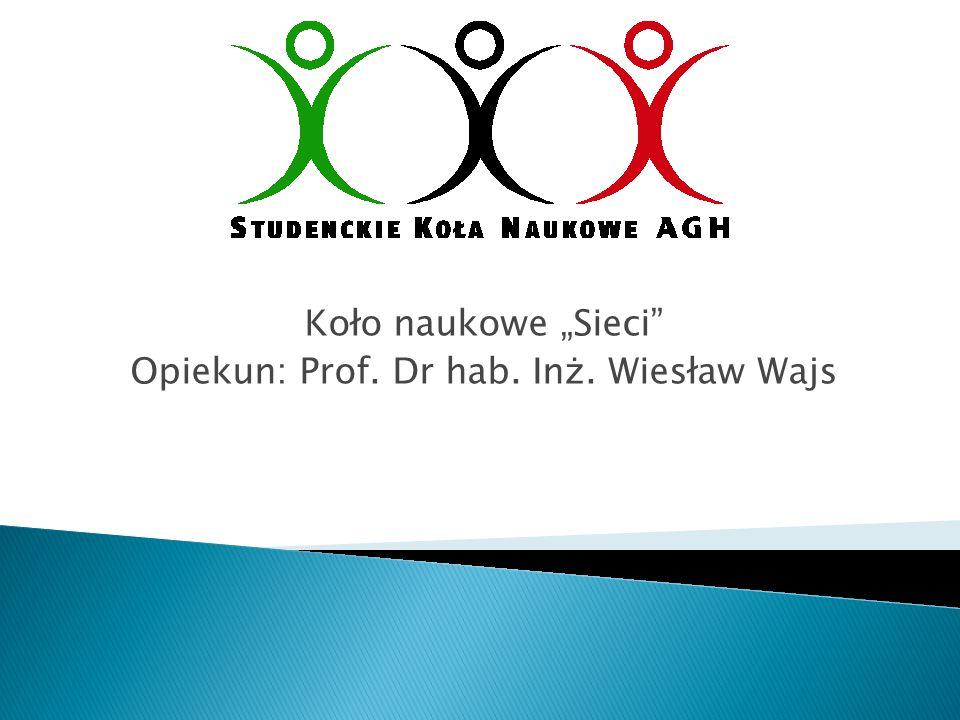 """Koło naukowe """"Sieci Opiekun: Prof. Dr hab. Inż. Wiesław Wajs"""