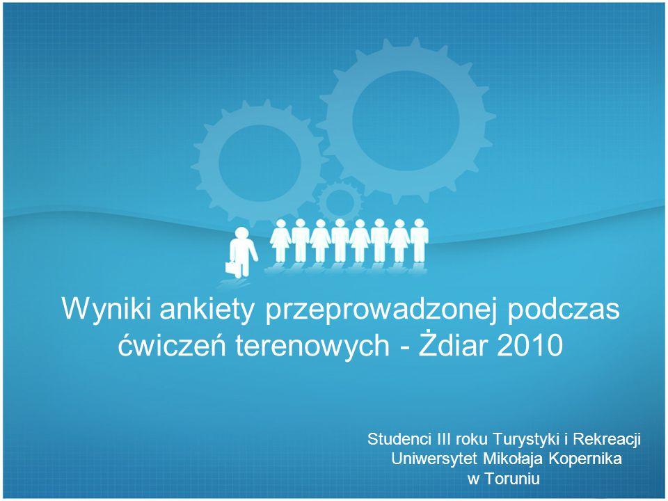 Wyniki ankiety przeprowadzonej podczas ćwiczeń terenowych - Żdiar 2010