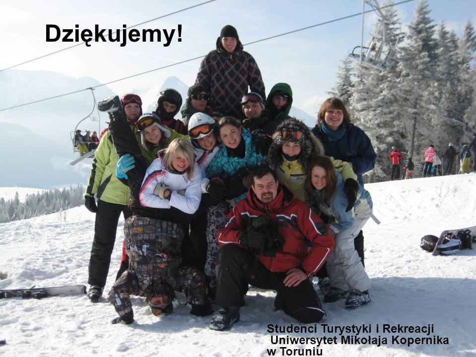 Dziękujemy! Studenci Turystyki i Rekreacji