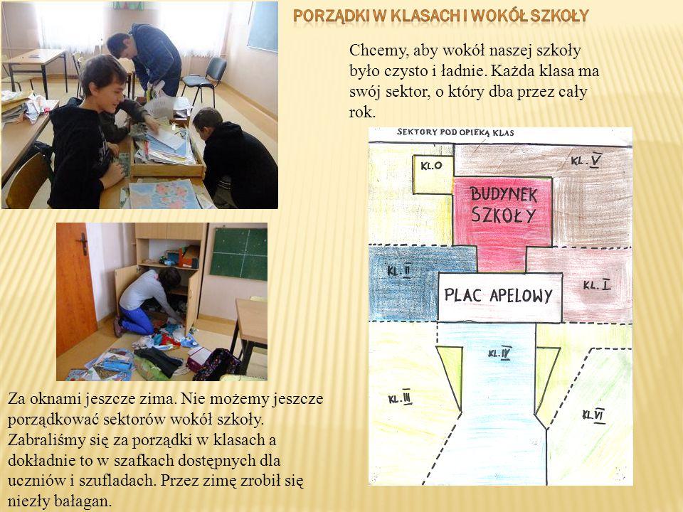 Porządki w klasach i wokół szkoły
