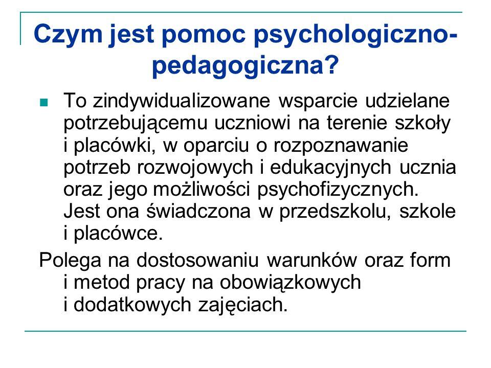 Czym jest pomoc psychologiczno-pedagogiczna