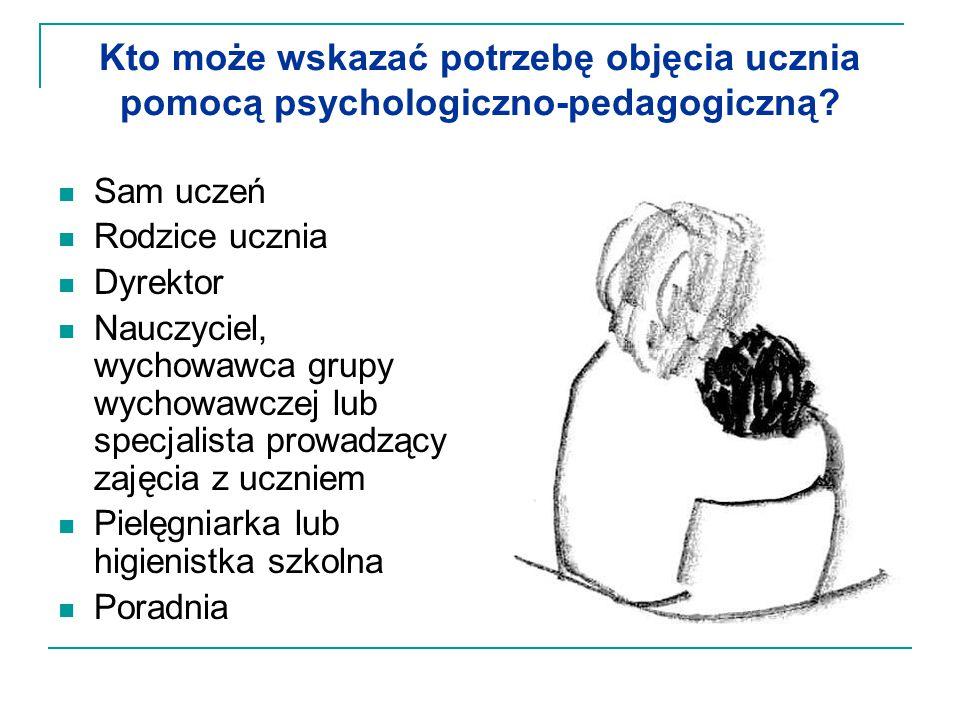 Kto może wskazać potrzebę objęcia ucznia pomocą psychologiczno-pedagogiczną