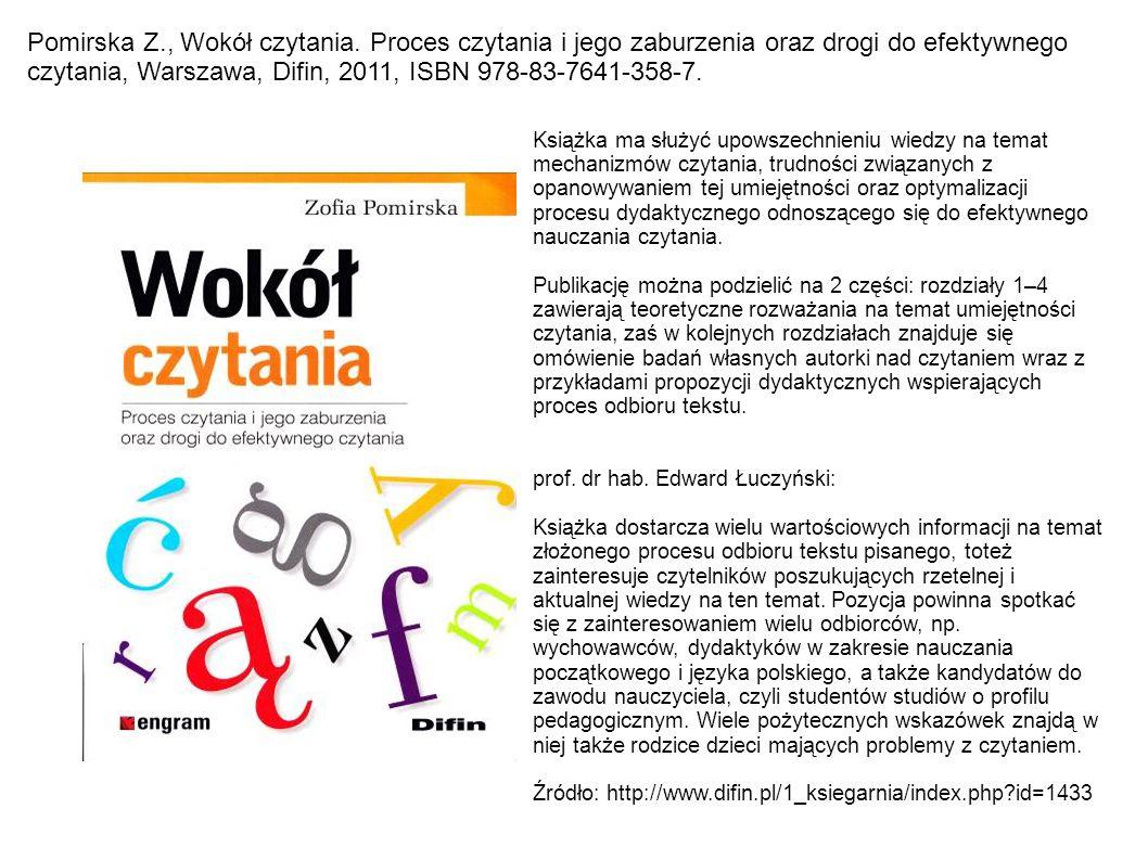 Pomirska Z. , Wokół czytania