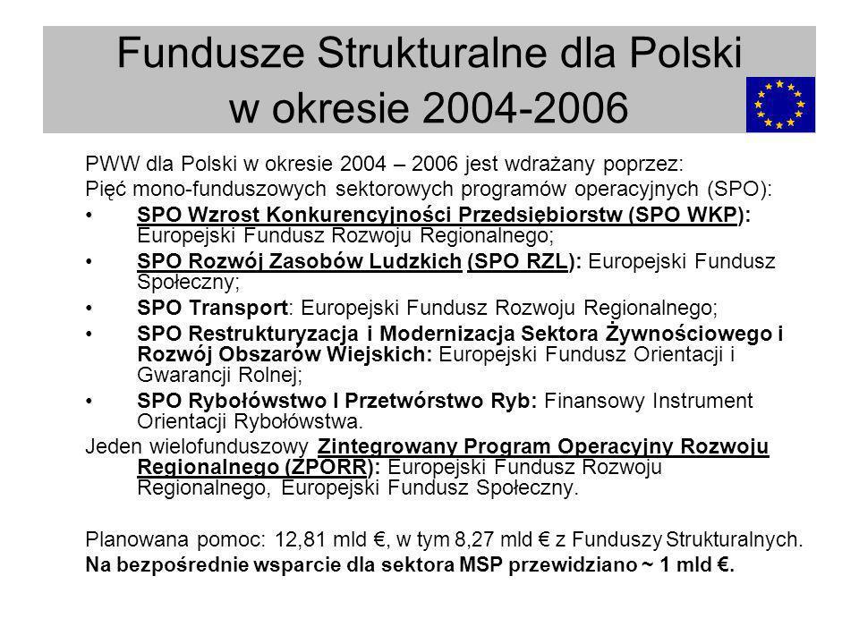 Fundusze Strukturalne dla Polski w okresie 2004-2006
