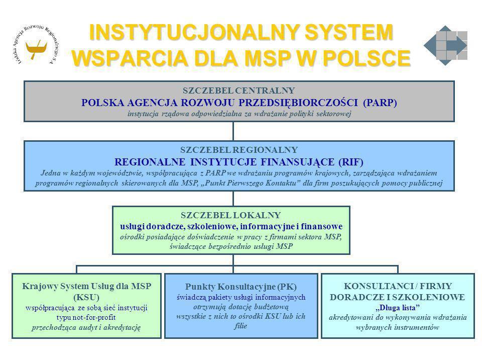 INSTYTUCJONALNY SYSTEM WSPARCIA DLA MSP W POLSCE