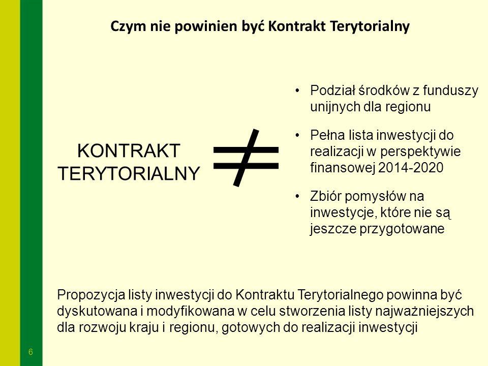 Czym nie powinien być Kontrakt Terytorialny