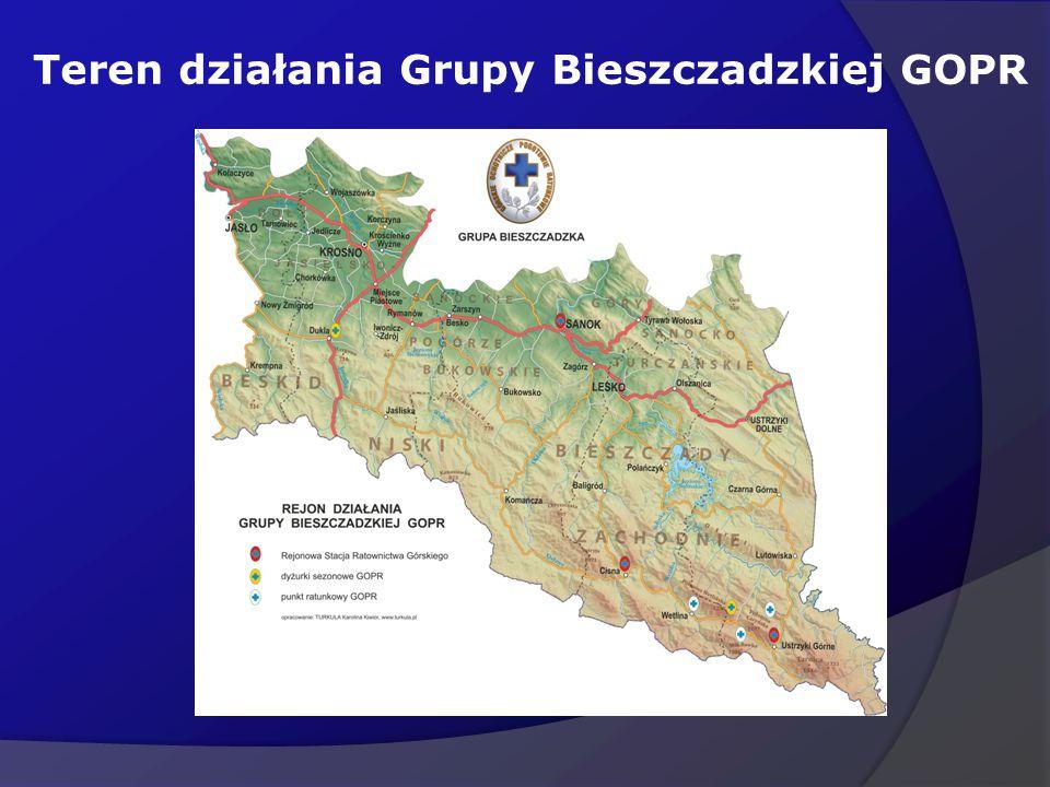 Teren działania Grupy Bieszczadzkiej GOPR
