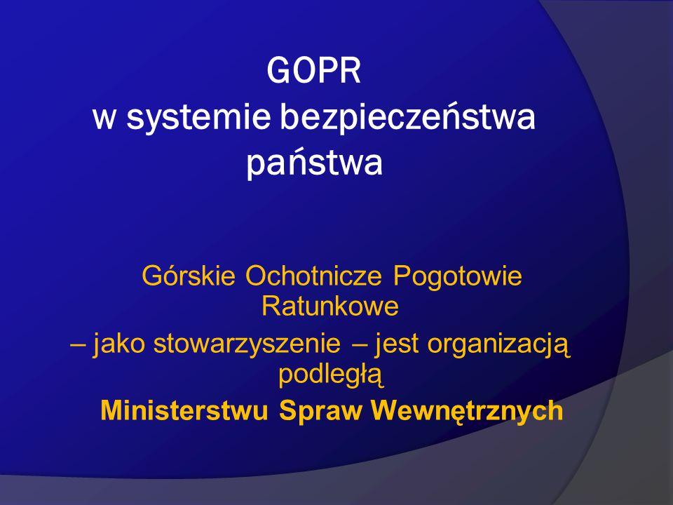 GOPR w systemie bezpieczeństwa państwa