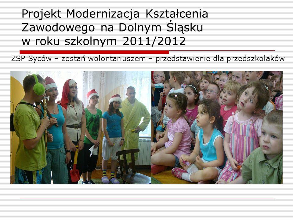 ZSP Syców – zostań wolontariuszem – przedstawienie dla przedszkolaków