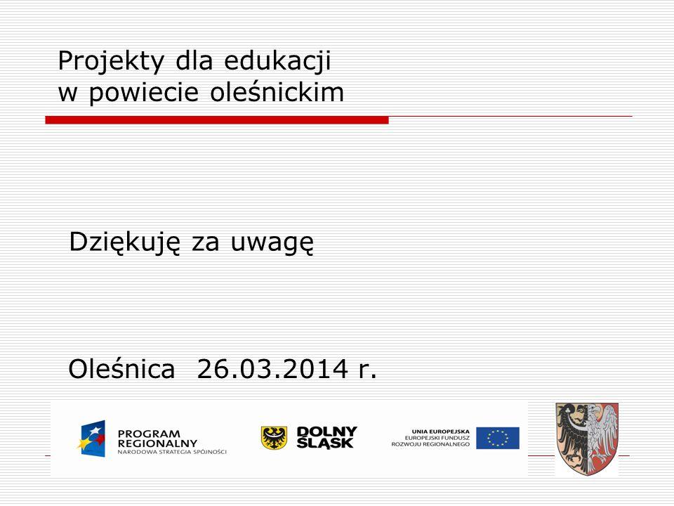 Projekty dla edukacji w powiecie oleśnickim