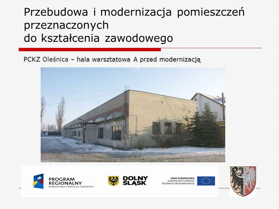 PCKZ Oleśnica – hala warsztatowa A przed modernizacją