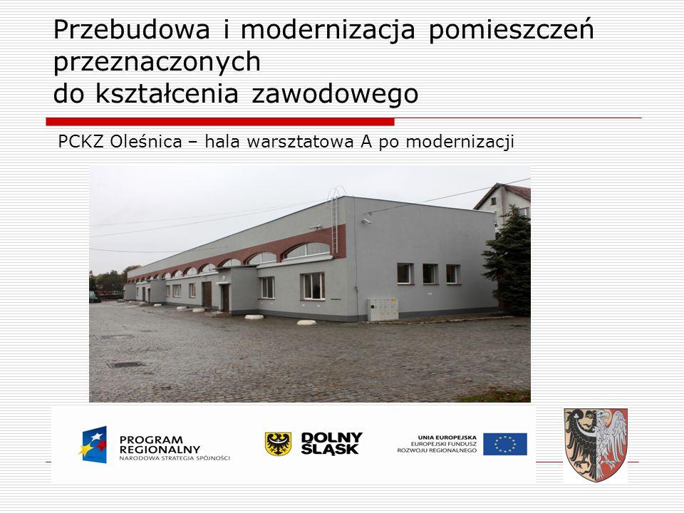 PCKZ Oleśnica – hala warsztatowa A po modernizacji