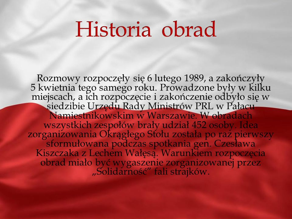 Historia obrad