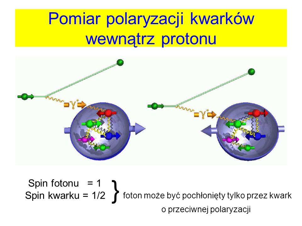 Pomiar polaryzacji kwarków wewnątrz protonu