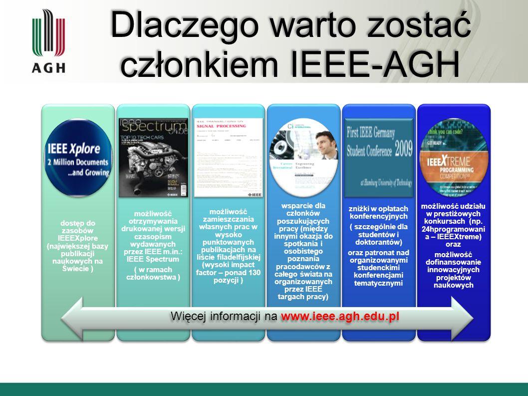 Dlaczego warto zostać członkiem IEEE-AGH