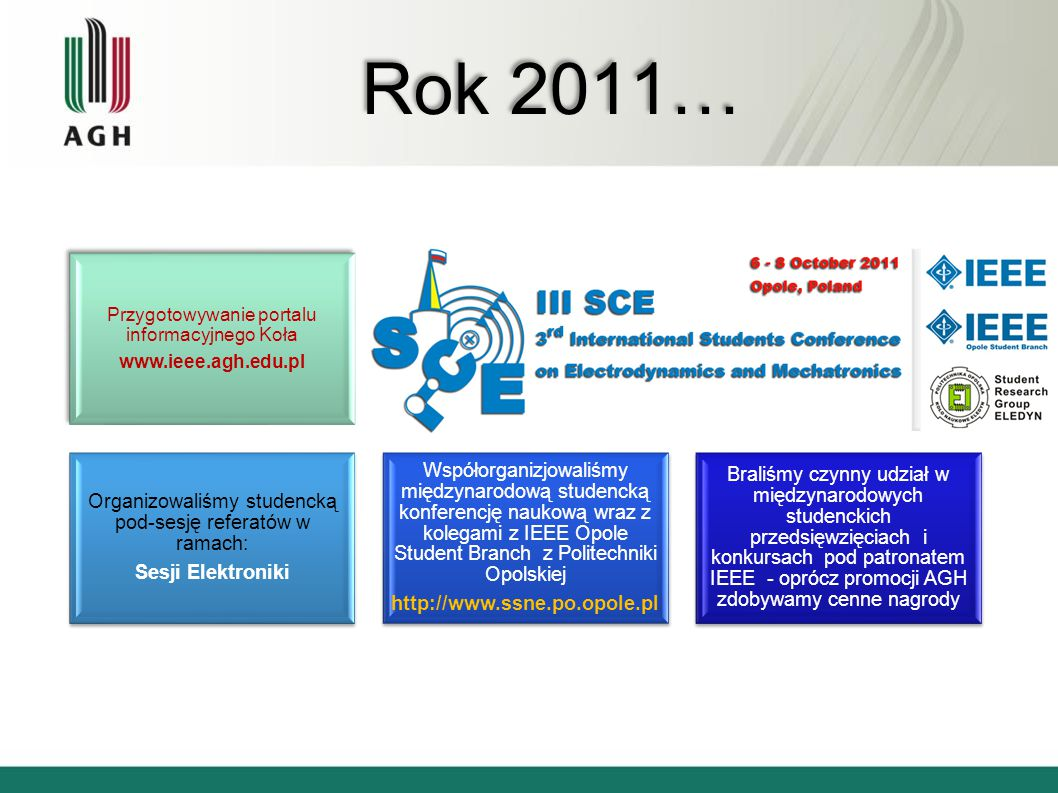 Rok 2011… Pomagamy w organizacji 34