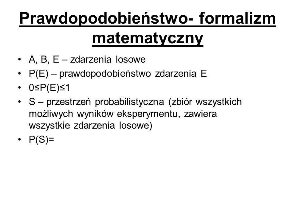 Prawdopodobieństwo- formalizm matematyczny