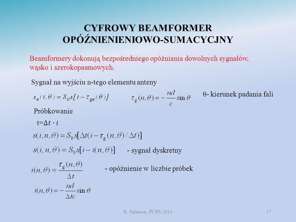 CYFROWY BEAMFORMER OPÓŹNIENIENIOWO-SUMACYCJNY