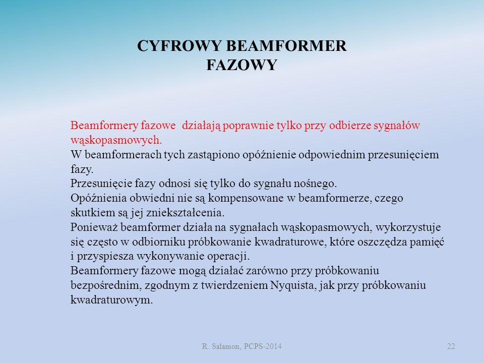 CYFROWY BEAMFORMER FAZOWY