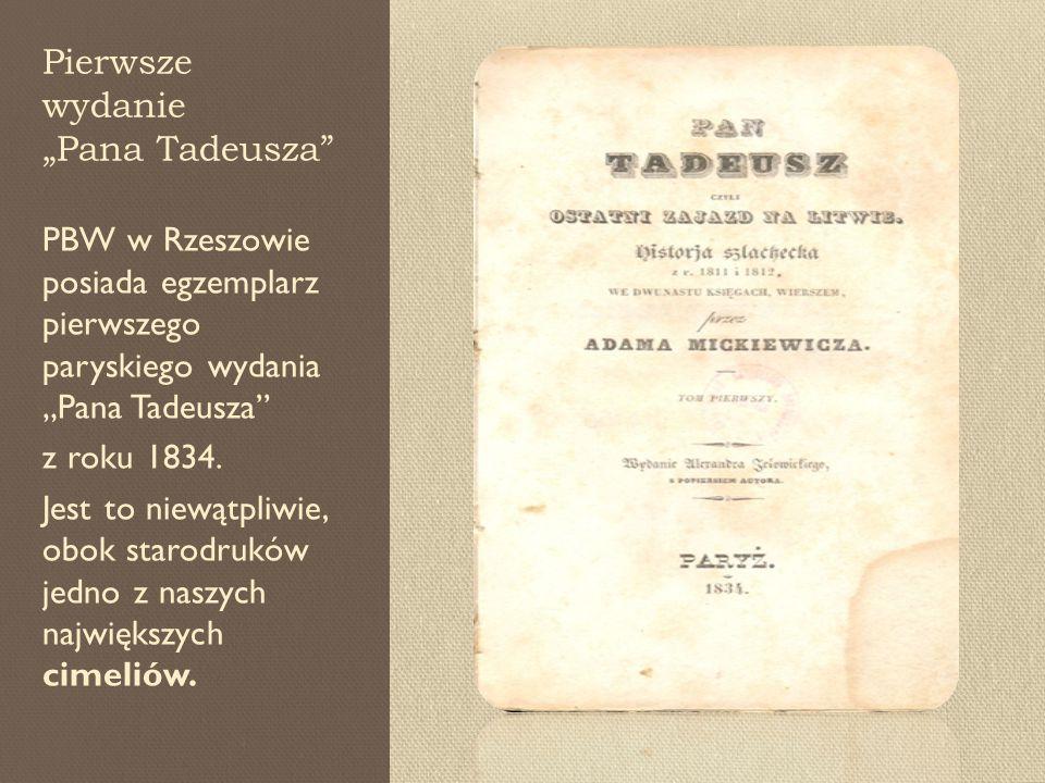 """Pierwsze wydanie """"Pana Tadeusza"""