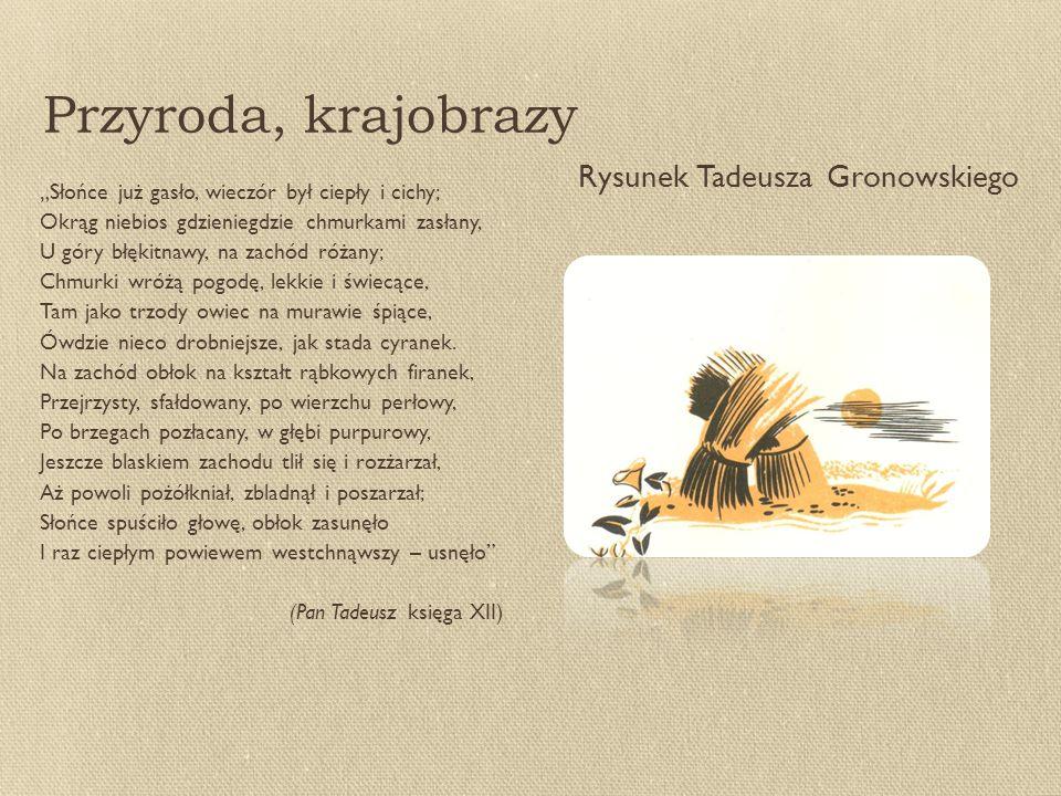 Przyroda, krajobrazy Rysunek Tadeusza Gronowskiego