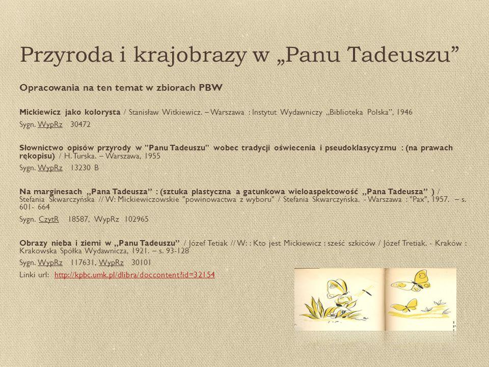 """Przyroda i krajobrazy w """"Panu Tadeuszu"""