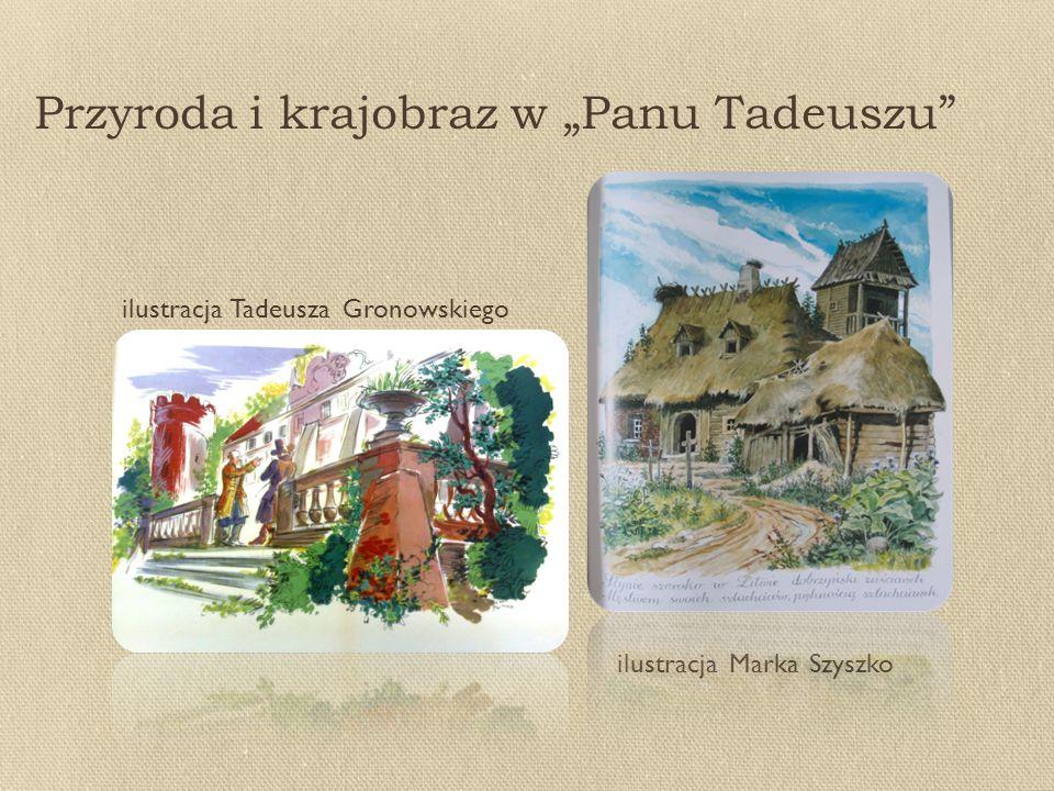 """Przyroda i krajobraz w """"Panu Tadeuszu"""