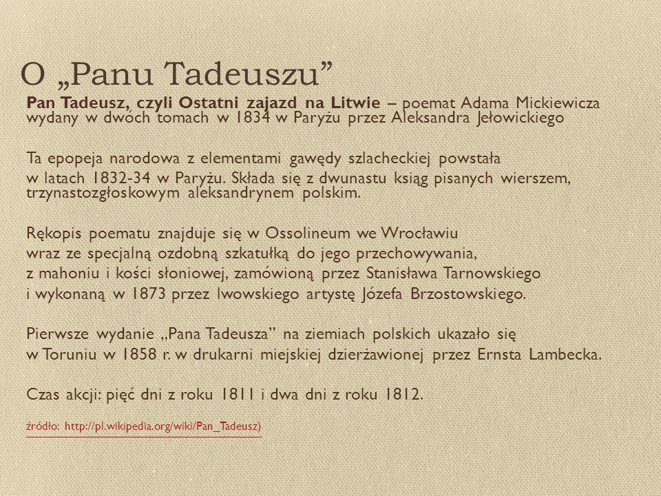 """O """"Panu Tadeuszu"""