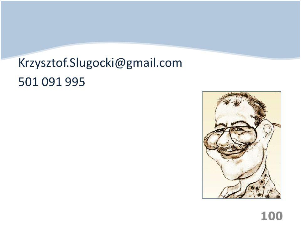 Krzysztof.Slugocki@gmail.com 501 091 995