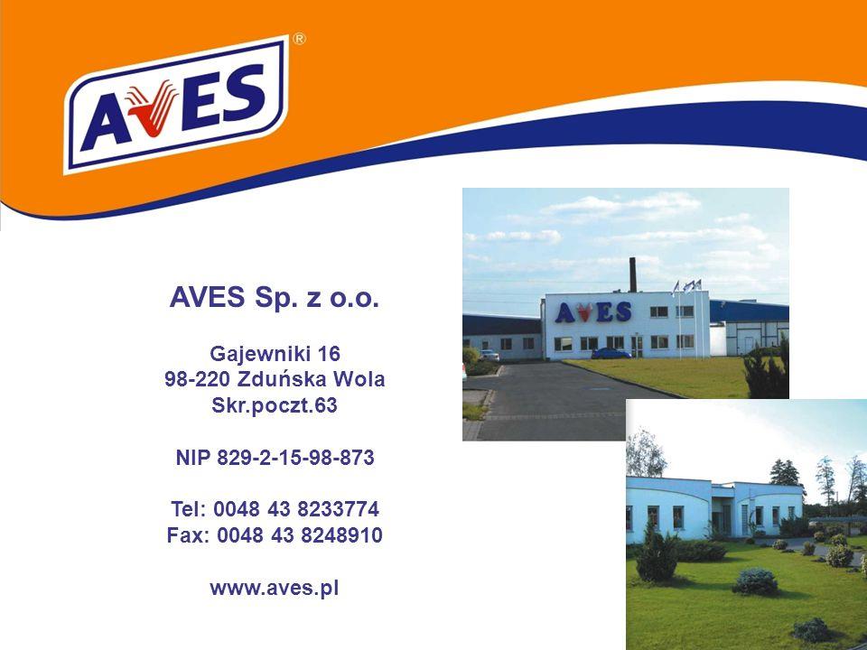 AVES Sp. z o.o. Gajewniki 16 98-220 Zduńska Wola Skr.poczt.63