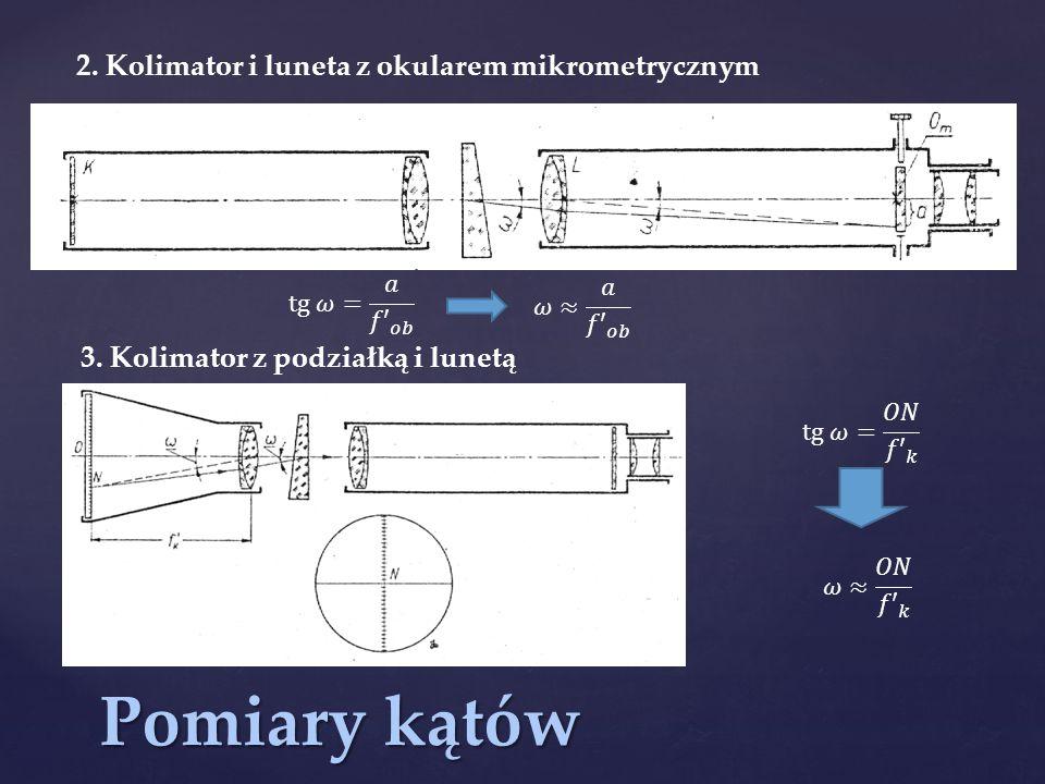 Pomiary kątów 2. Kolimator i luneta z okularem mikrometrycznym