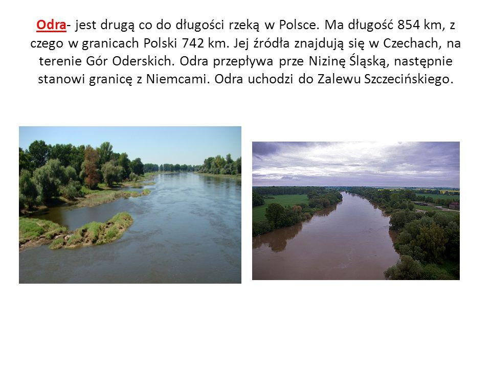 Odra- jest drugą co do długości rzeką w Polsce