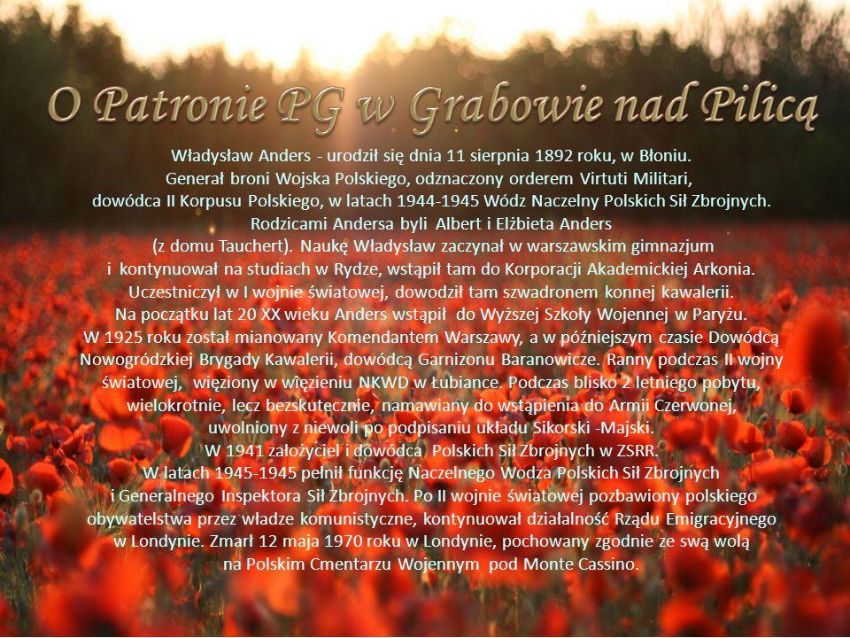 O Patronie PG w Grabowie nad Pilicą