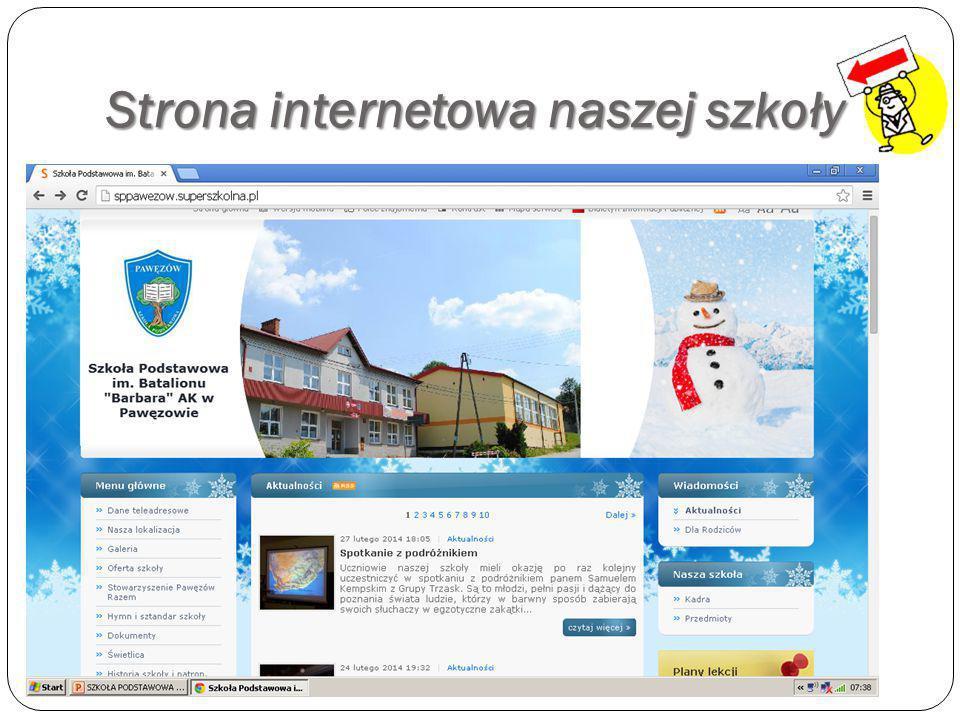 Strona internetowa naszej szkoły