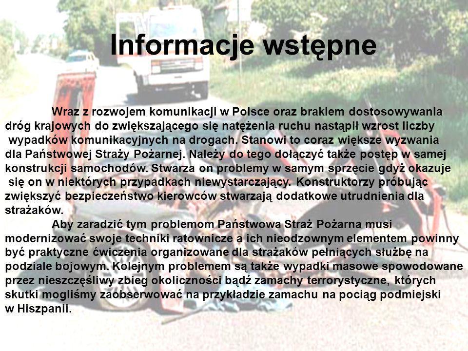 Informacje wstępne Wraz z rozwojem komunikacji w Polsce oraz brakiem dostosowywania.
