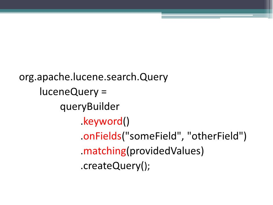 org.apache.lucene.search.Query