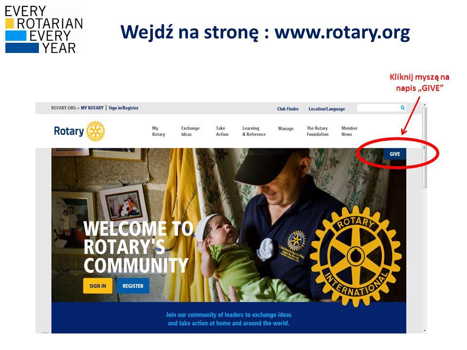 Wejdź na stronę : www.rotary.org