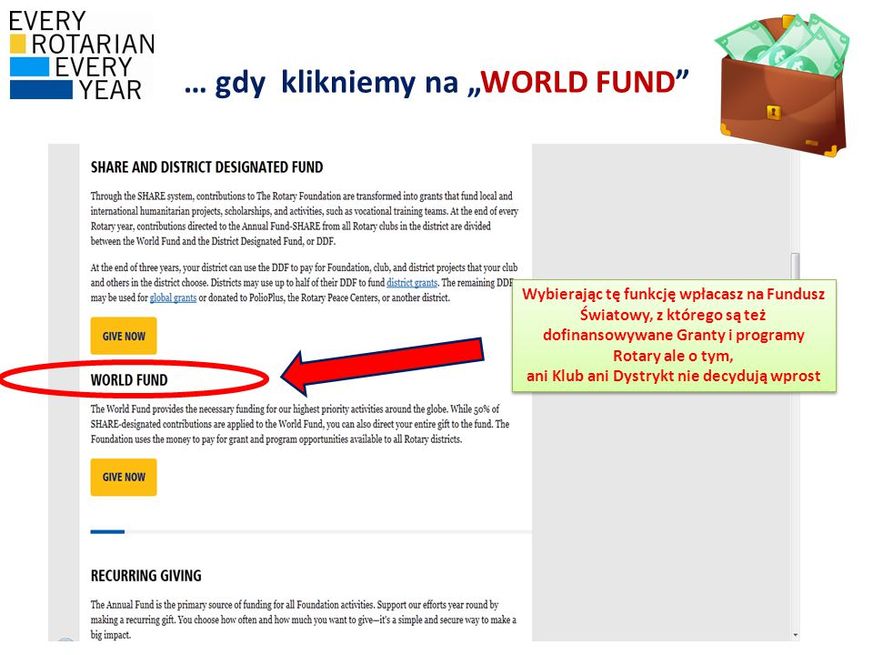 "… gdy klikniemy na ""WORLD FUND"