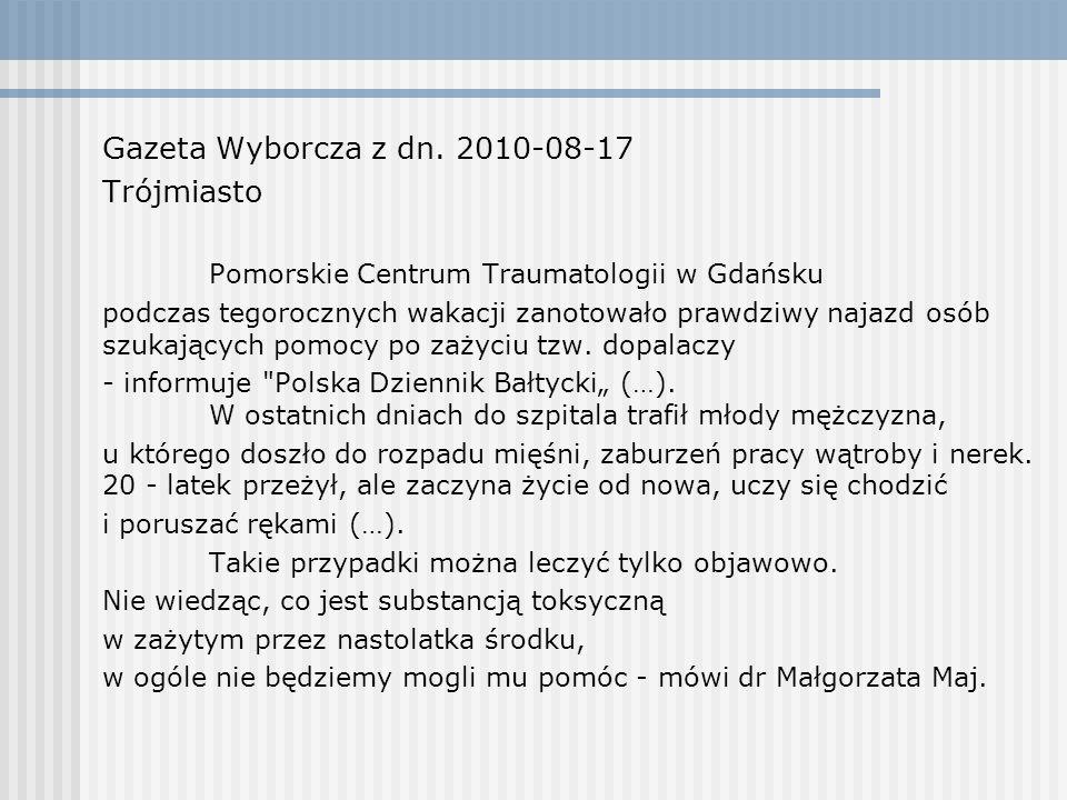 Gazeta Wyborcza z dn. 2010-08-17 Trójmiasto
