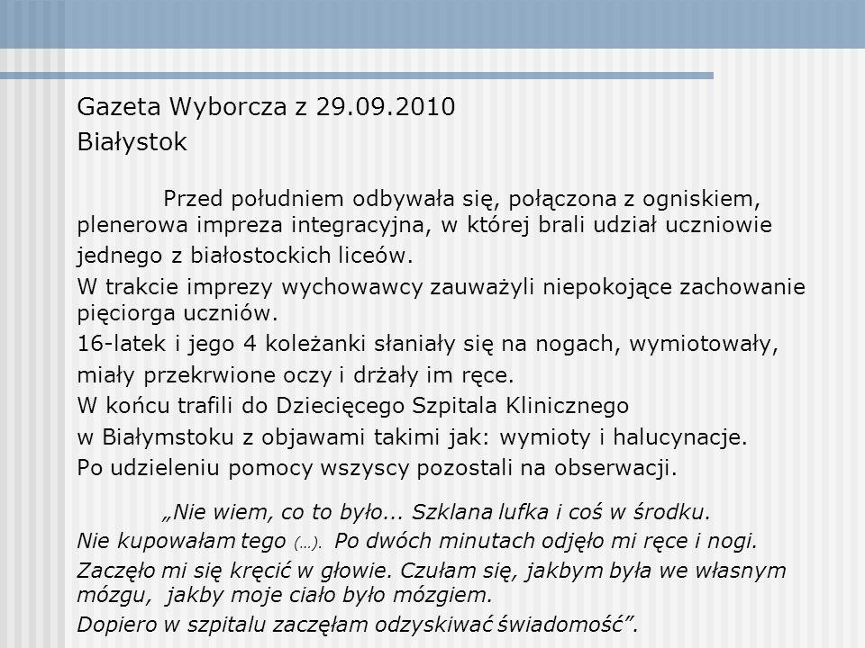 Gazeta Wyborcza z 29.09.2010 Białystok