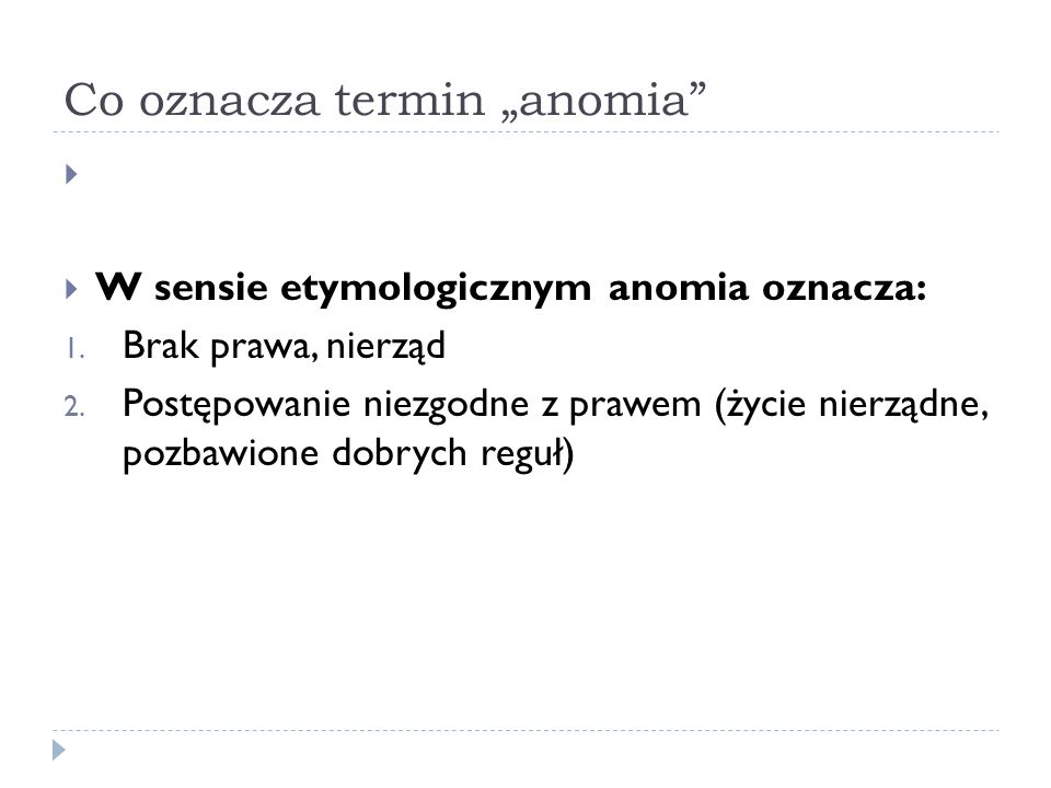 """Co oznacza termin """"anomia"""