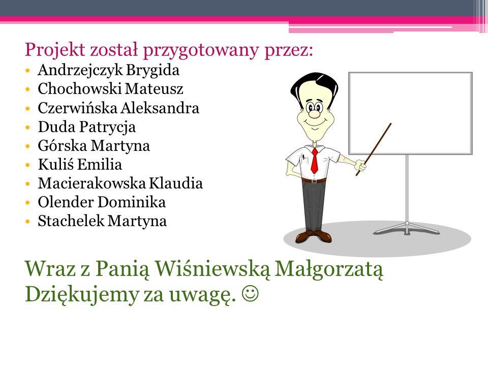 Wraz z Panią Wiśniewską Małgorzatą Dziękujemy za uwagę. 