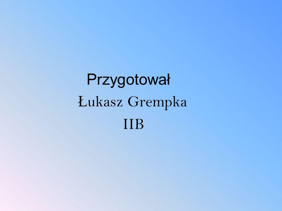 Przygotował Łukasz Grempka IIB