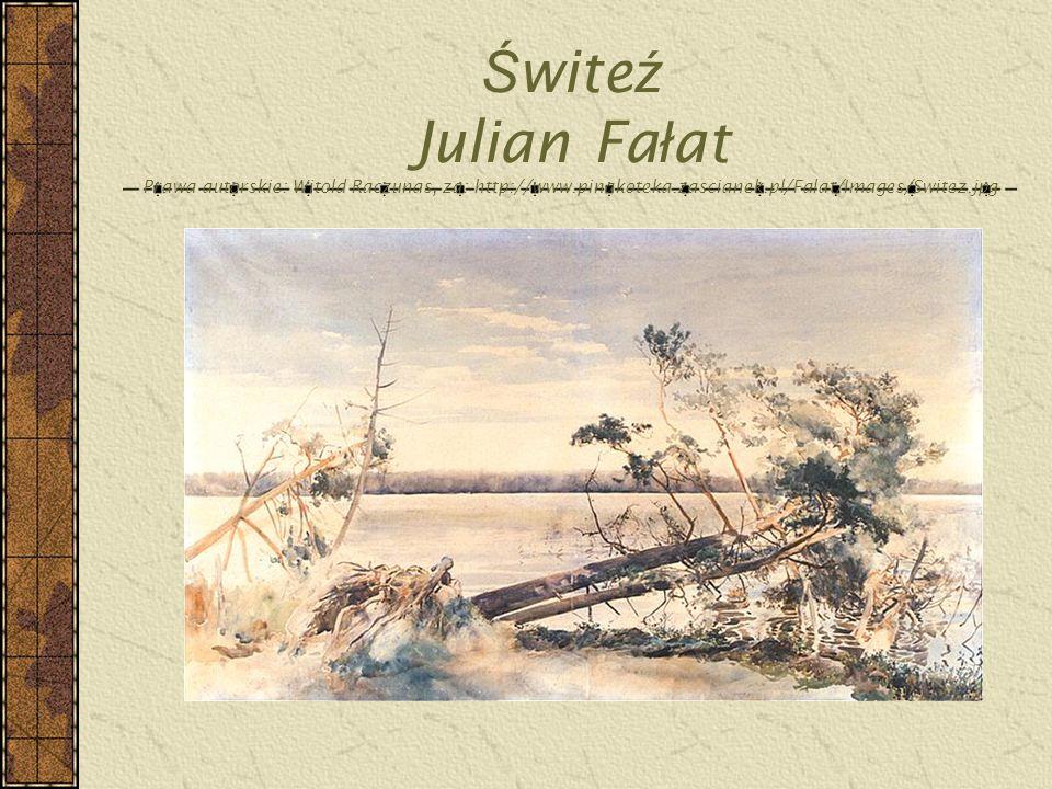 Świteź Julian Fałat Prawa autorskie: Witold Raczunas, za: http://www