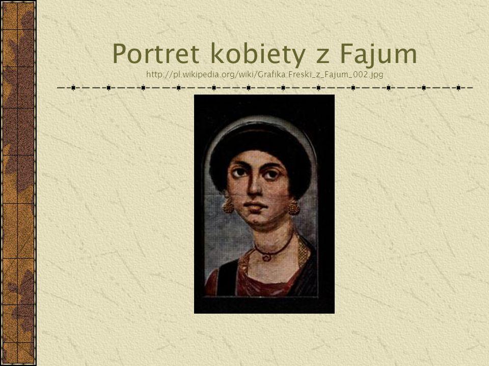 Portret kobiety z Fajum http://pl. wikipedia